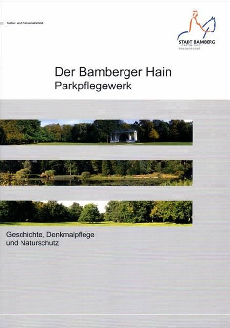Titelblatt des Parkpflegewerks für den Bamberger Hain
