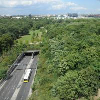 Blick auf den östlichen Tiergarten mit dem Tiergartentunnel. © N. A. Klöhn